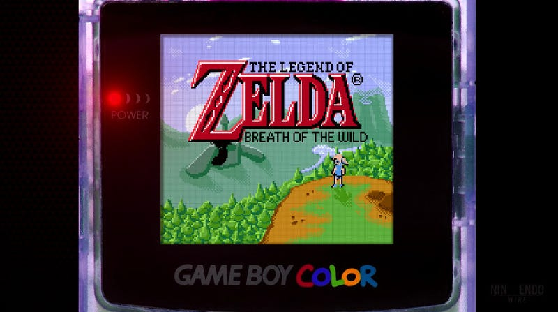 Breath Of The Wild Looks Rad As A Game Boy Color Game