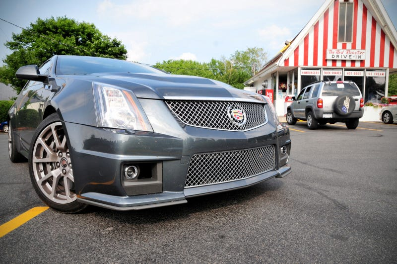 Illustration for article titled Cadillac CTS-V Coupe: Eating Your Way To A Burnout