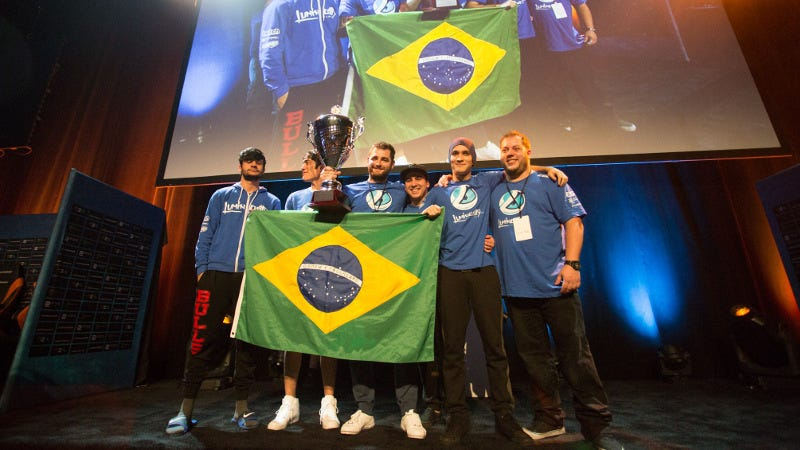 The victorious Luminosity team at DreamHack Austin, by Alex Maxwell for DreamHack. Source