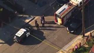 Emergency personnel in the Oakland, Calif., neighborhood of 30th and Linden streetsYouTube screenshot
