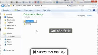 Illustration for article titled Quickly Create New Folders in Windows 7 with the Ctrl+Shift+N Shortcut
