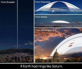 Illustration for article titled Mi lenne, ha a Földnek gyűrűi lennének?