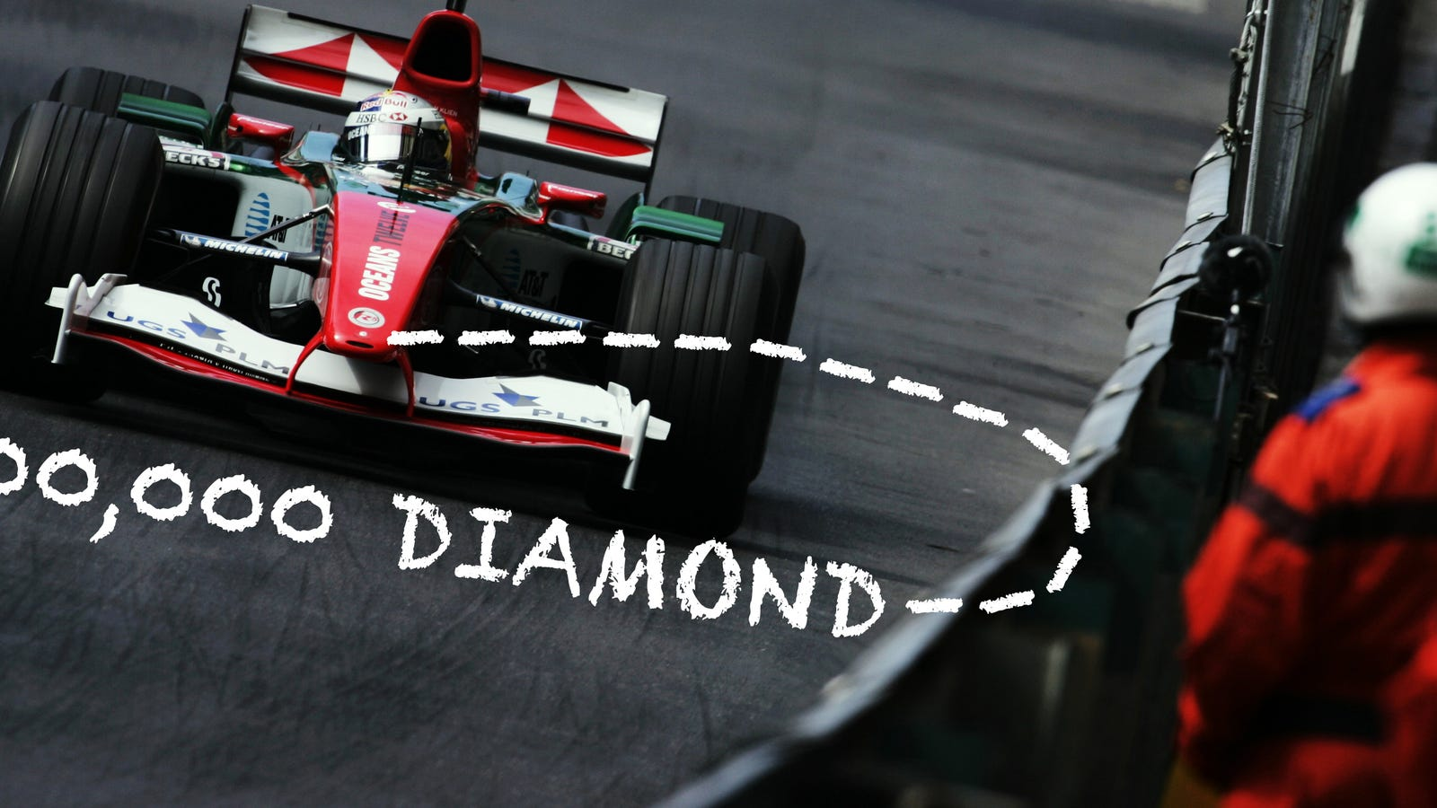 Here S How A Flawless 300 000 Diamond Was Lost In An F1 Car Crash