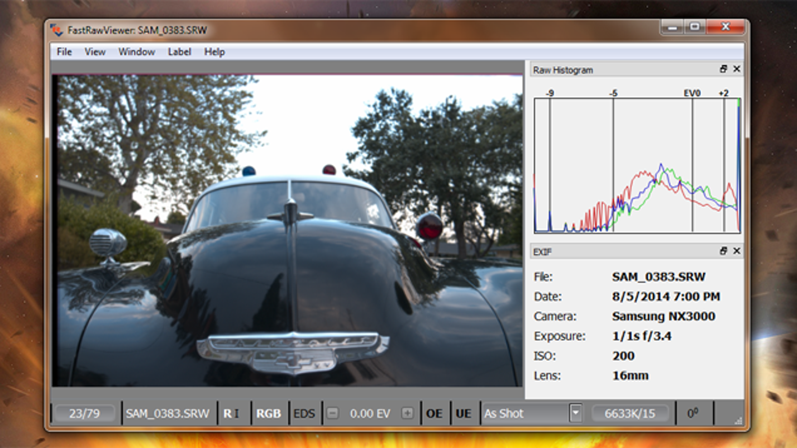 FastRawViewer Displays RAW Photo Files and EXIF Data Quickly
