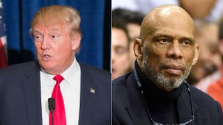 Donald Trump; Kareem Abdul-JabbarScott Olson/Getty Images; Ethan Miller/Getty Images