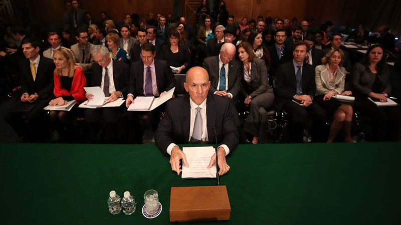 Former Equifax CEO Richard Smith prepares to testify before the Senate Banking, Housing and Urban Affairs Committee. Photo: Getty
