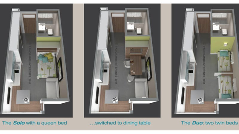 Illustration for article titled Could you live in this futuristic, ultra-tiny apartment?
