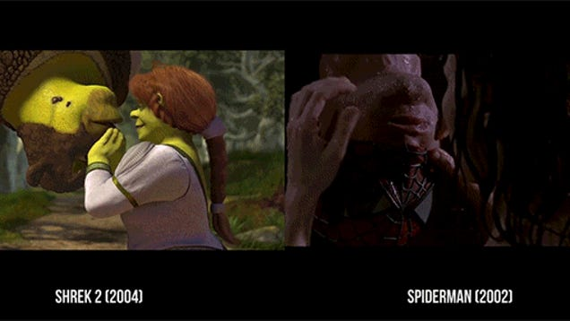 Scenes From Shrek SideBySide With Scenes Of The Movies Shrek - Heres how pixar copy scenes from other movies