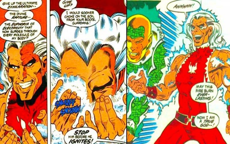 Illustration for article titled Snowflame, el villano ochentero de DC Comics que esnifaba cocaína para obtener su poder