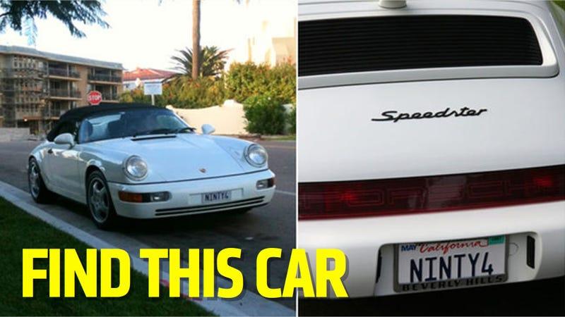 Illustration for article titled Ultra-Rare Porsche 964 Speedster Stolen In San Diego