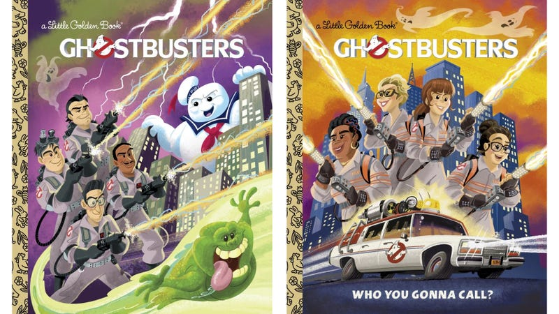 Illustration for article titled These Ghostbusters Little Golden Books Are Who Ya Gonna Call For a Bedtime Story