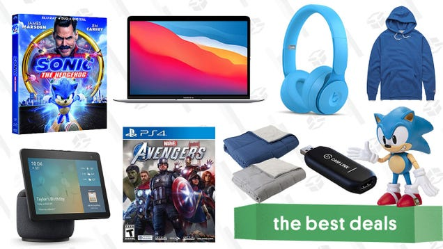 Monday s Best Deals: Apple MacBook Air, Marvel s Avengers, Reversible Weighted Blanket, Echo Show 10, Homage Hoodies, Sonic the Hedgehog Blu-ray, and More