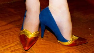 Illustration for article titled Make your own superhero heels and walk a mile in Wonder Woman's shoes