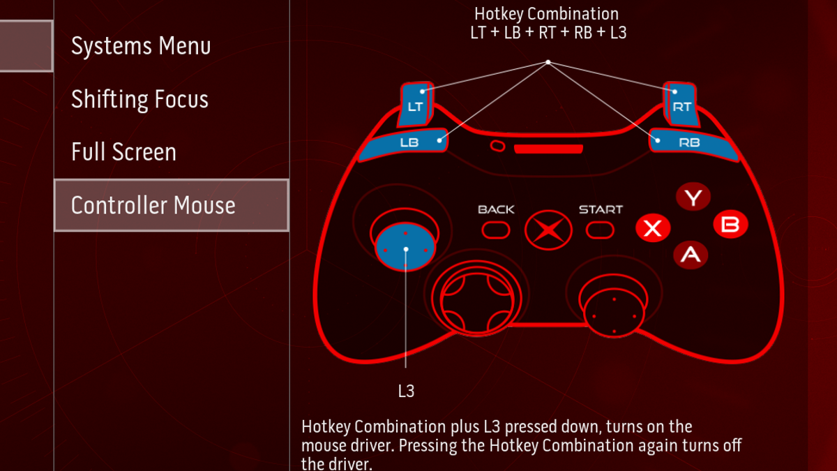 xbox one controller mouse emulator