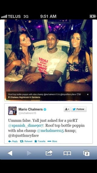 """Illustration for article titled """"Roof Top Bottle Poppin"""" Liars Busted By Mario Chalmers"""