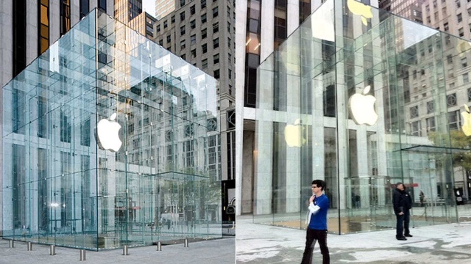 here 39 s what apple 39 s new glass cube apple store looks like omg soo different. Black Bedroom Furniture Sets. Home Design Ideas