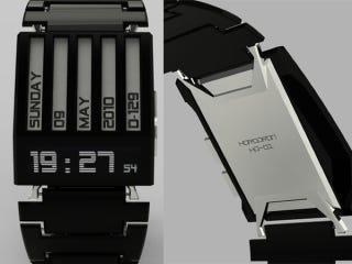 Illustration for article titled Simplistic Horodron Watch Concept Hides Subtle E-Ink Secret