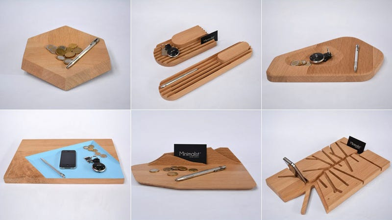 Illustration for article titled 10 Desk Accessories Designed From A Single Slab Of Wood