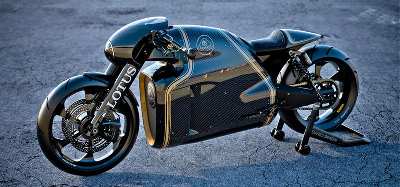 Illustration for article titled Gorgeous Lotus C-01 bike is half retro, half Tron, full awesome