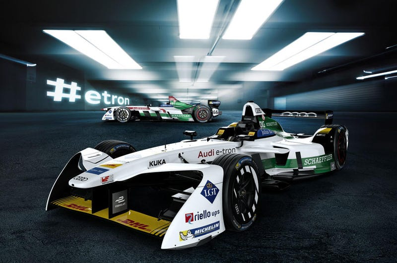 Illustration for article titled Official Audi FE livery is a little meh