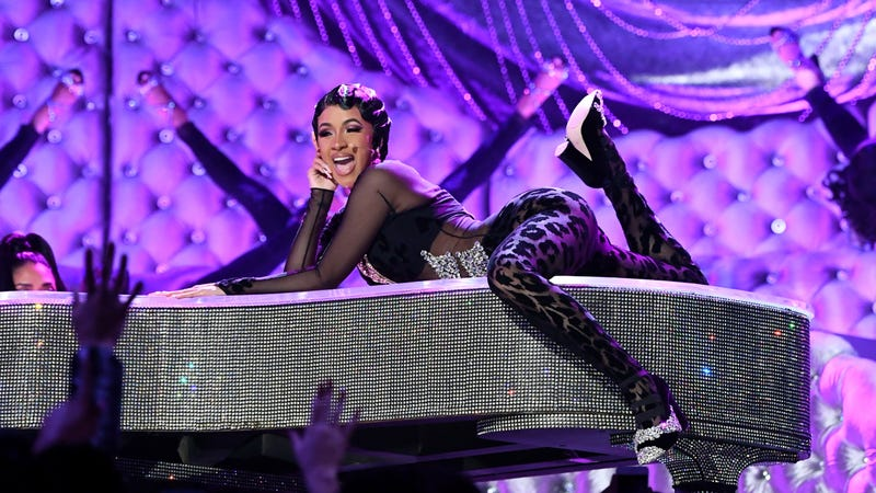 Cardi B performs onstage during the 61st Annual GRAMMY Awards on February 10, 2019 in Los Angeles, California.