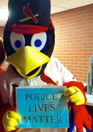 Illustration for article titled Your Racist Uncle Will Love This Picture Of The Cardinals' Mascot