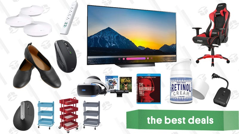 Illustration for article titled Thursday's Best Deals: Logitech Mice, OLED TVs, Everlane Flats, And More