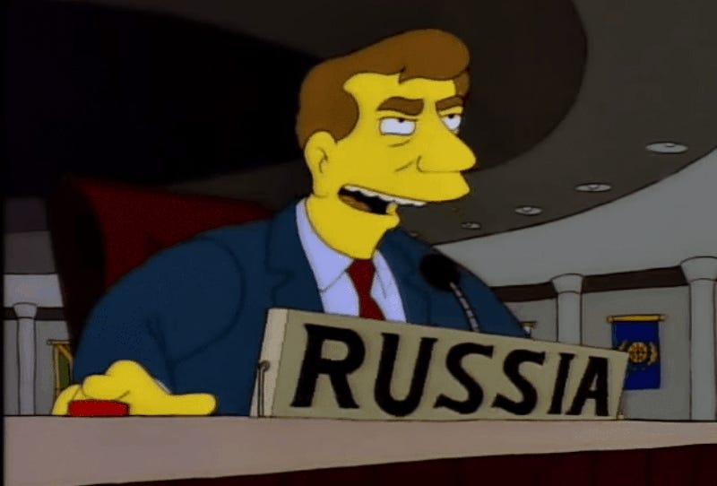 Ucrania le respondió a Rusia con un GIF de los Simpsons