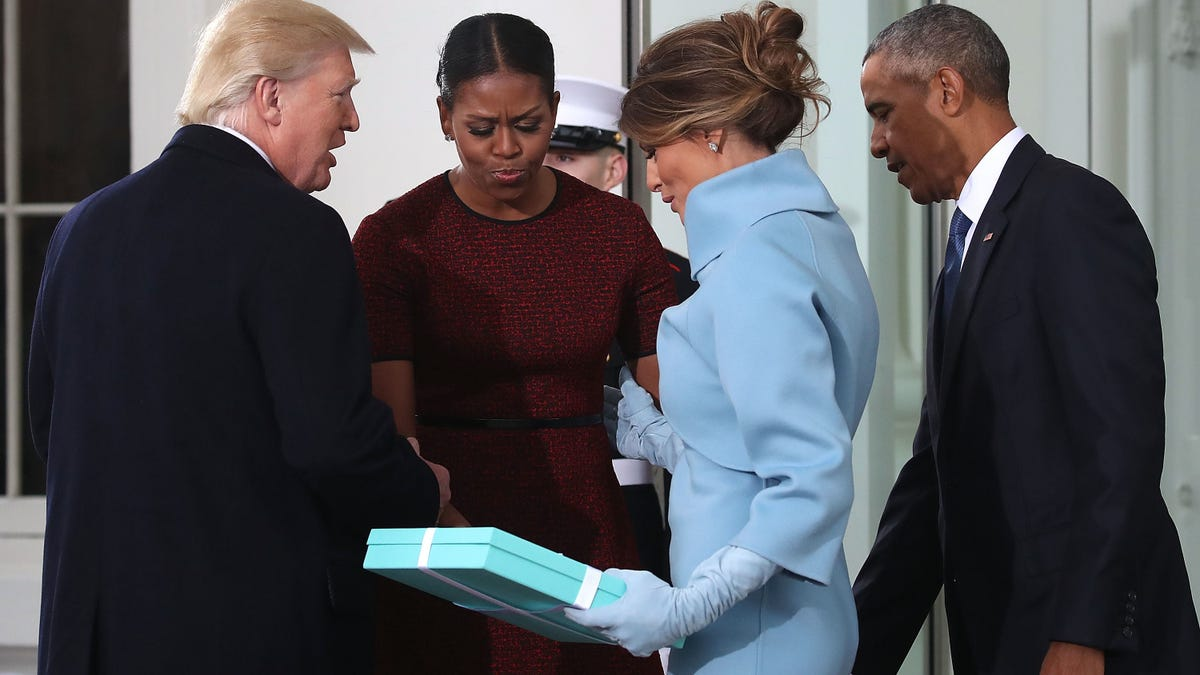 What Was In That Giant, Stupid Tiffany's Box Melania Gave Michelle?