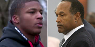 Ma'lik Richmond (YouTube); O.J. Simpson (AFP/Getty Images)