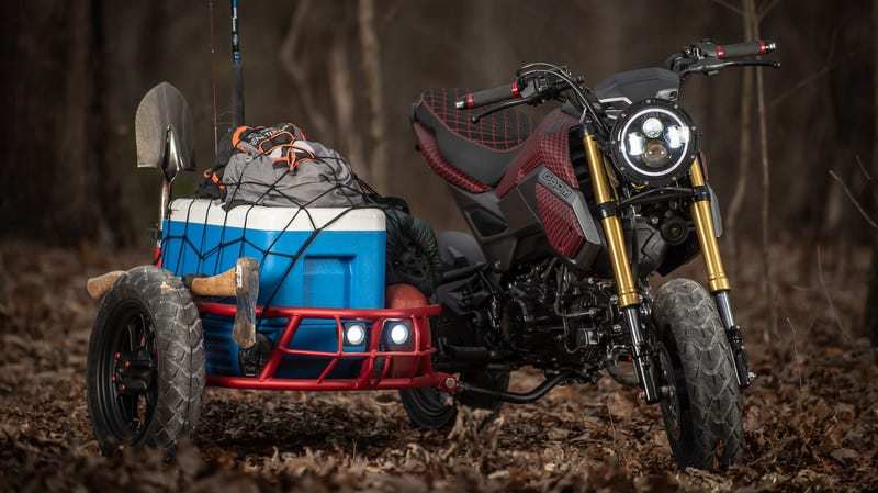 Hell Yeah–It's A Little Honda Grom With A Teeny Tiny Sidecar