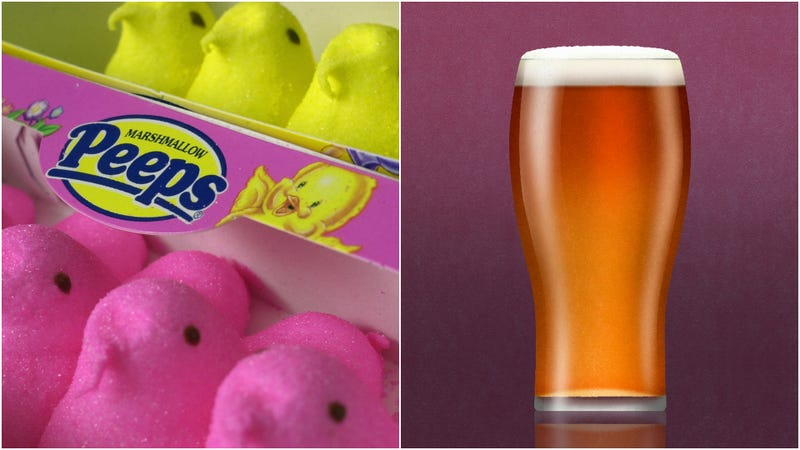 Illustration for article titled Purple-glitter-sour-Peeps beer is the Easter/April Fool's Day creation no one asked for