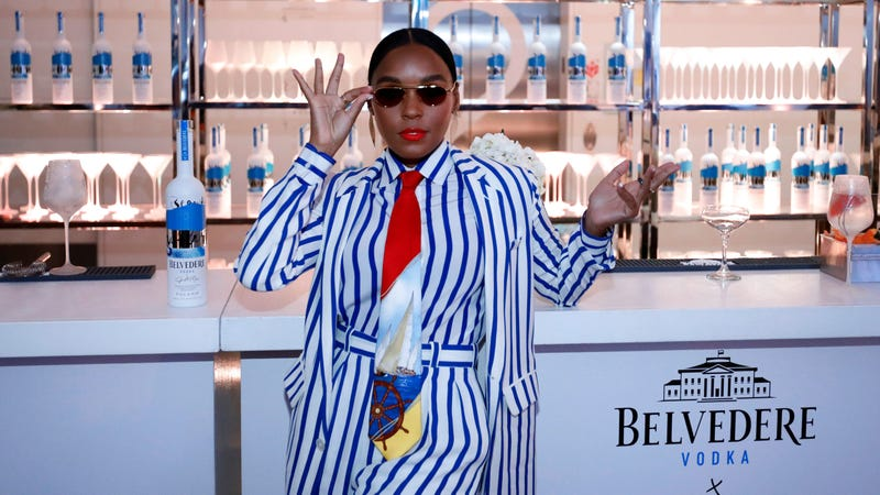 """Janelle Monae at the Belvedere Vodka x Janelle Monae celebration of the """"A Beautiful Future"""" limited edition bottle in Chicago on August 01, 2019."""