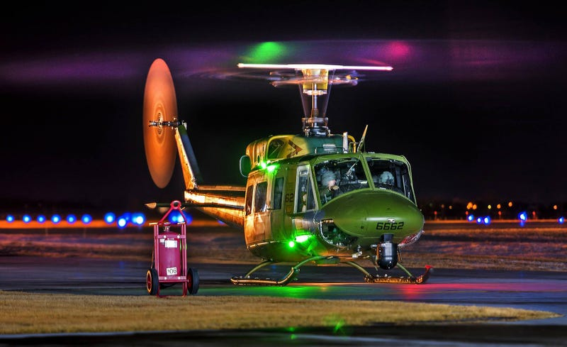 This USAF UH-1N Huey May Be Old But It Sure Looks Futuristic