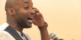 "Javon Johnson (screenshot from ""Cuz He's Black"" YouTube video)"