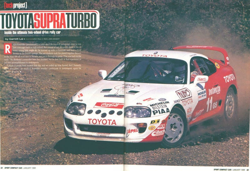 Illustration for article titled Bet You Didn't Know The MkIV Supra Was A Rally Car Back in the 90s