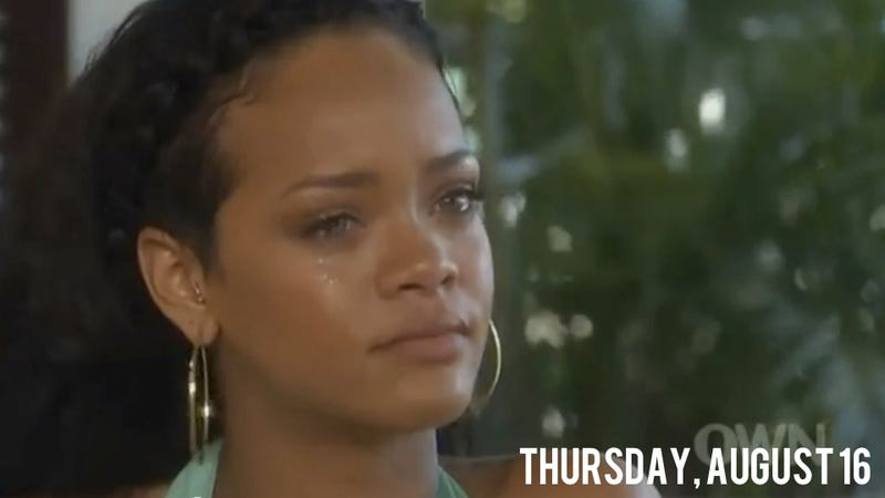 Illustration for article titled Rihanna Tearfully Tells Oprah That Chris Brown Needs Help