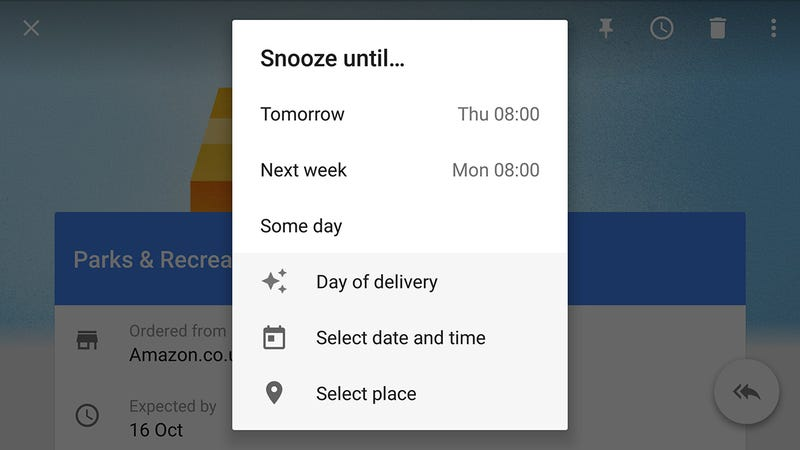 Illustration for article titled Snooze Emails Until Just the Right Time With Inbox By Gmail