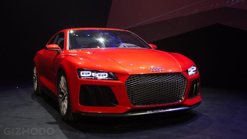 Audis Quattro Laserlight Concept Car Is A Gorgeous Powerhouse - Car laser light show