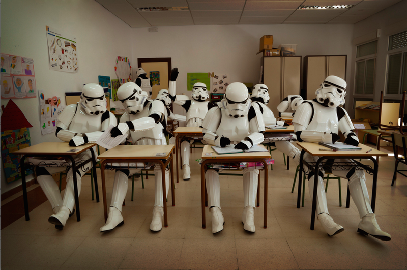 Illustration for article titled The Sadly Typical Routine of Off-Duty Stormtroopers