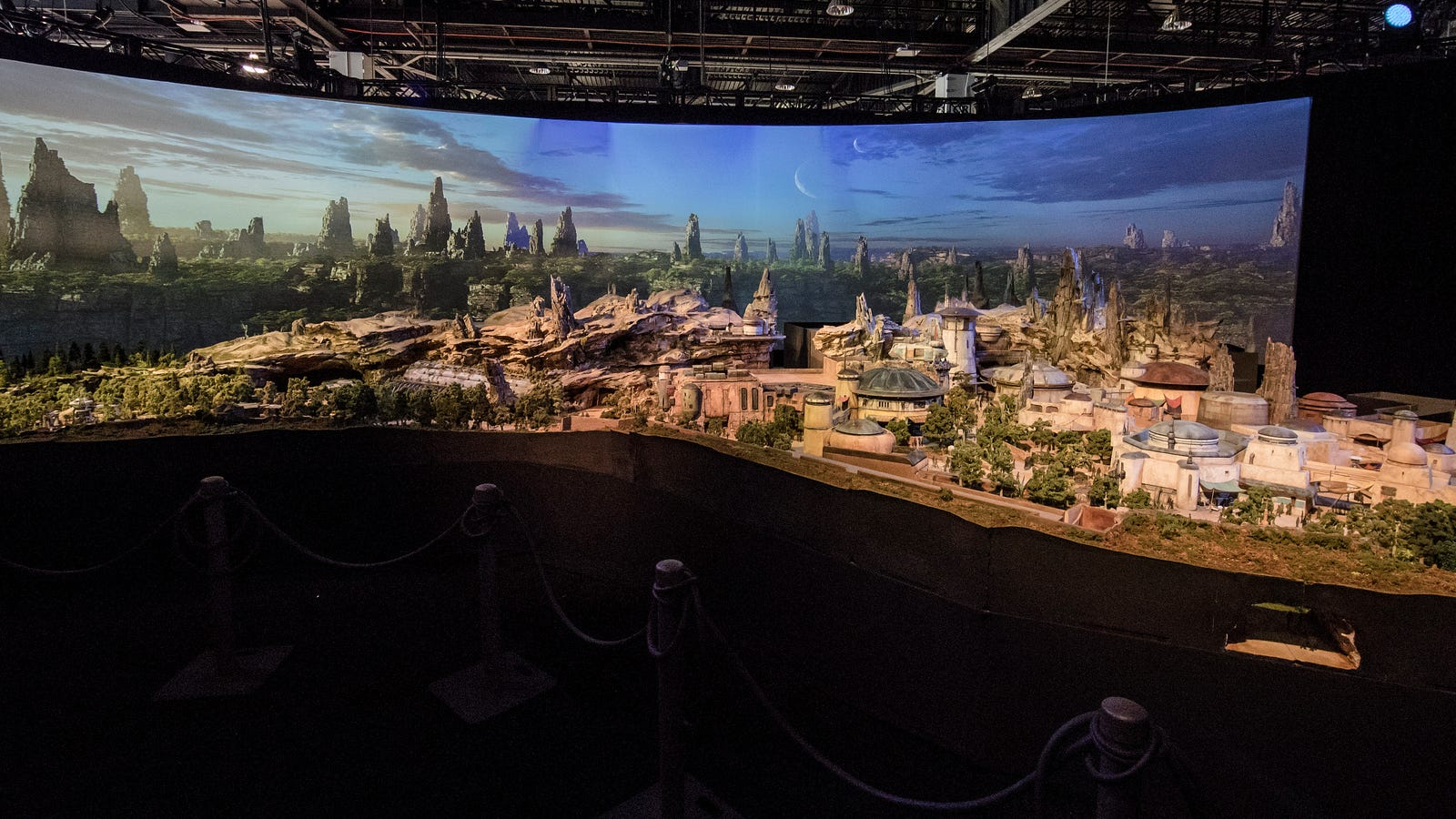 Here's Your First Look at an Insanely Detailed Model of Disney's Star Wars Land (UPDATED)