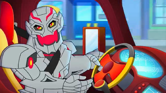 The First Marvel Super Hero Adventures Clip Stars a Grotesque Baby Ultron Stealing a Garbage Truck