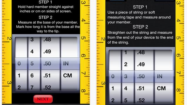 Končno, App za pomoč moškim Izmerite svoje pokončne penise-4328