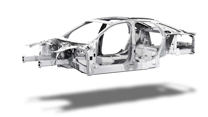 Illustration for article titled This Is The Audi A8's Naked Space Frame