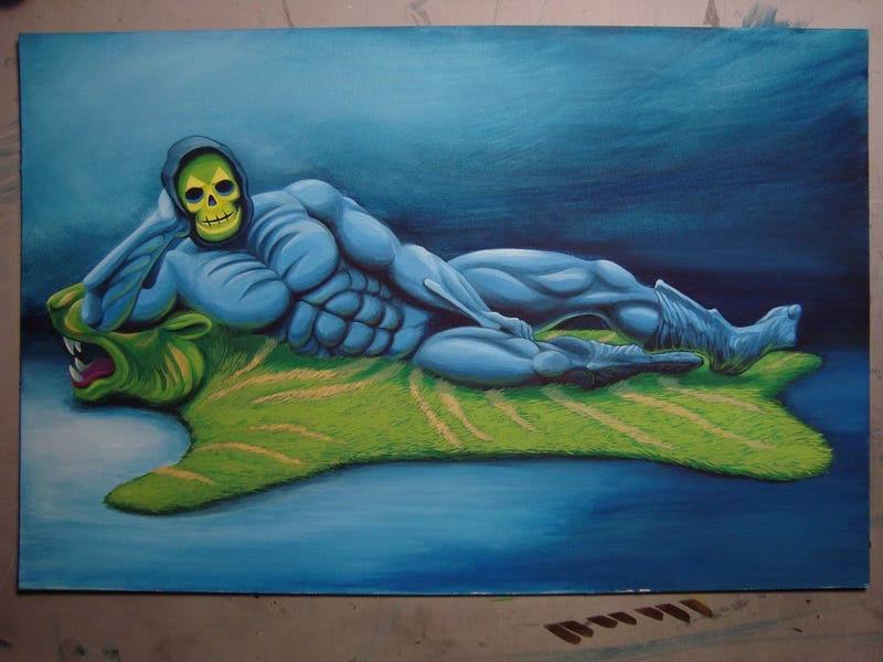 Illustration for article titled He-Man And The Masters Of Fine Art: Skeletor Like You've Never Seen Him Before