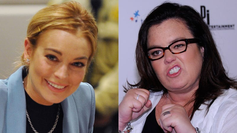 Illustration for article titled Rosie O'Donnell Appoints Herself Boss of Lindsay Lohan, Says She Sucks Too Much to Be Liz Taylor