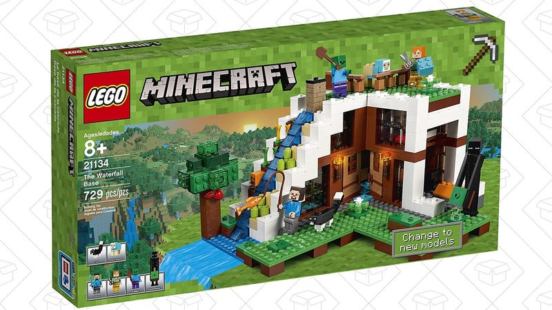 LEGO Minecraft The Waterfall Base, $56