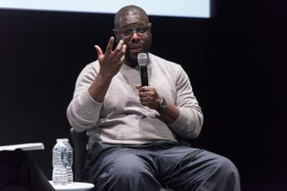 Steve McQueen discussing his Paul Robeson project at the Whitney Museum of American Art in New York City on April 29, 2016Filip Wolak/Whitney Museum of American Art