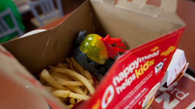 Illustration for article titled Hotel staff throws away artist's sculpture that looks like an empty Happy Meal box