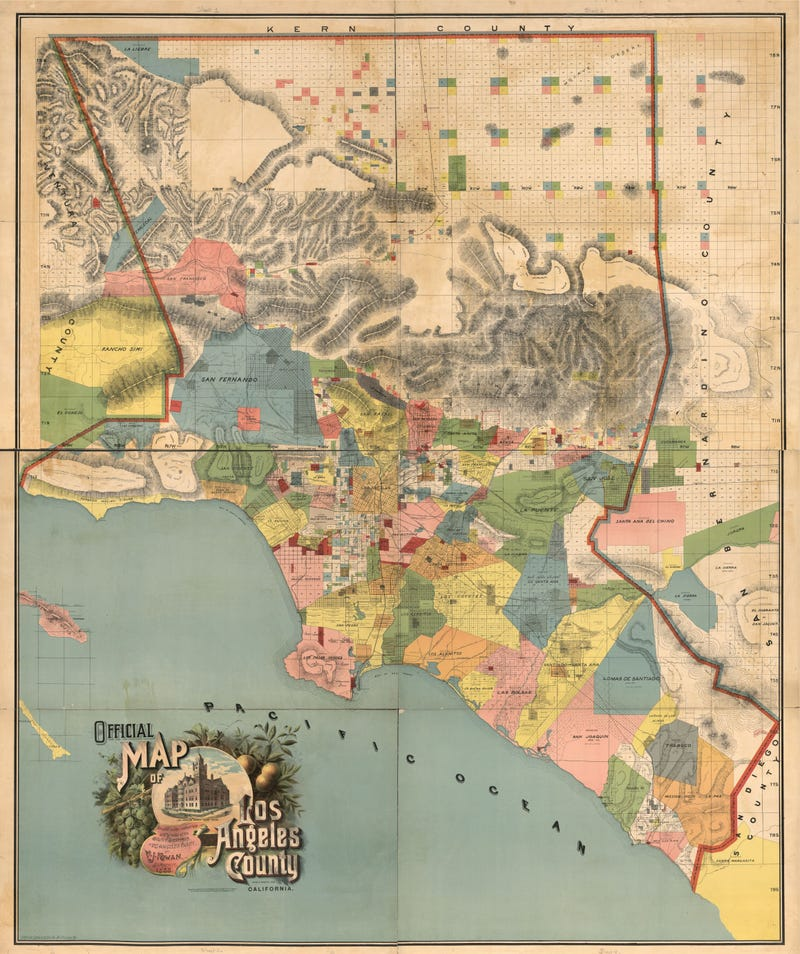 Show California Map.Colorful Map Shows L A As A Patchwork Of Rancho Era Land Grants